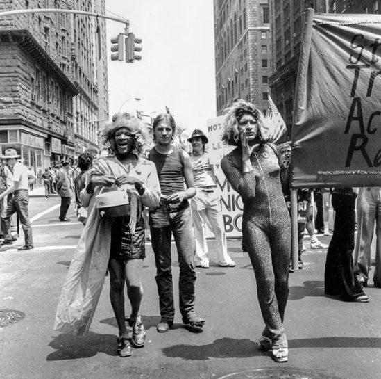 Marsha P. Johnson & Sylvia Rivera, Christopher Street Liberation Day, June 24, 1973. Photo by Leonard Fink